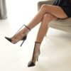 Black-ankle-leather-silicon-boots (YS)