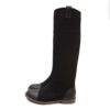 Black-suede-leather-flat-boots4 (YS)
